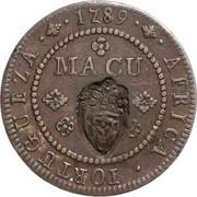 2 Macutas - Maria II (countermarked 1 Macuta) – reverse