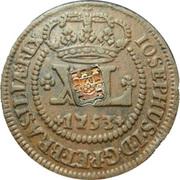 80 Reis - João Prince Regent (countermarked over XL Réis/JOSEPHVS I) -  obverse