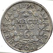6 Macutas - Maria I & Pedro III – reverse