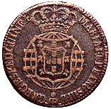 ½ Macuta - Maria I & Pedro III – obverse