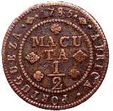 ½ Macuta - Maria I & Pedro III – reverse