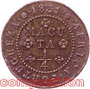 ¼ Macuta  - Miguel I – reverse