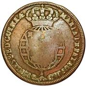 2 Macutas - Maria II (countermarked 1 Macuta KM#20) -  obverse