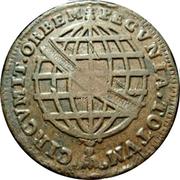 80 Reis - João Prince Regent (countermarked over XL Réis/JOSEPHVS I) -  reverse