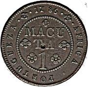 1 Macuta - Maria I & Pedro III -  reverse
