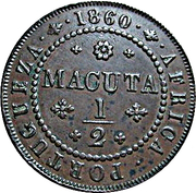 ½ Macuta - Pedro V – reverse