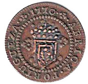 10 Reis - Maria II (countermarked over 5 Reis JOSEPHVS I) -  obverse