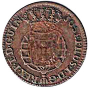 10 Reis - Maria II (countermarked over 5 Reis JOSEPHVS I) – reverse