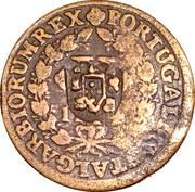 10 Reis - João Prince Regent (countermarked over  IOANNES V) – obverse