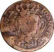 10 Reis - João Prince Regent (countermarked over  IOANNES V) -  reverse