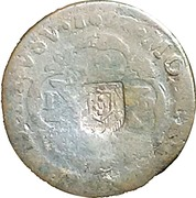 20 Reis - João Prince Regent (countermarked over PETRVS II) – obverse