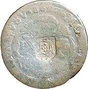 20 Reis - João Prince Regent (countermarked over PETRVS II) – obverse