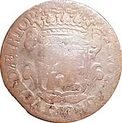 20 Reis - João Prince Regent (countermarked over PETRVS II) – reverse