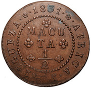 ½ Macuta - Miguel I – reverse