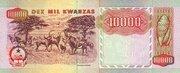10 000 Kwanzas – reverse