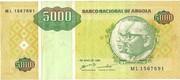 5000 Kwanzas Reajustados – obverse