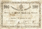 100 Réis (Bronze) – obverse