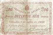 200 Réis (Bronze) – obverse