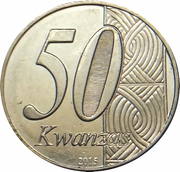 50 Kwanzas (Independence) – obverse