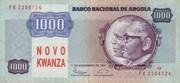 1 000 Novo Kwanzas (Overprint on 1 000 Kwanzas) – obverse