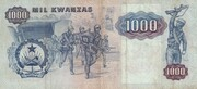 1 000 Novo Kwanzas (Overprint on 1 000 Kwanzas) – reverse