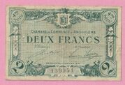 2 Francs - Chamber of Commerce of Angoulême – obverse