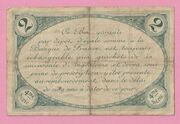2 Francs - Chamber of Commerce of Angoulême – reverse
