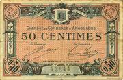 50 centimes - Chambre de commerce d'Angoulème [16] – obverse