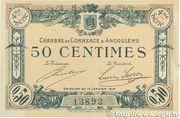 50 centimes - Chambre de commerce d'Angoulème [16] <4ème série> – obverse