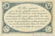 50 centimes - Chambre de commerce d'Angoulème [16] <4ème série> -  obverse