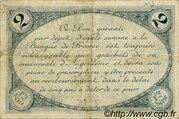 2 francs - Chambre de Commerce d'Angoulême [16] <1er série> – reverse