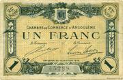 1 franc - Chambre de commerce d'Angoulème [16] <2ème série> – obverse