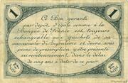 1 franc - Chambre de commerce d'Angoulème [16] <2ème série> – reverse