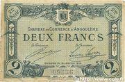 2 francs - Chambre de Commerce d'Angoulême [16] <2ème série> – obverse