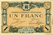 1 franc - Chambre de commerce d'Angoulème [16] <3ème série> – obverse