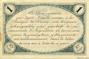 1 franc - Chambre de commerce d'Angoulème [16] <3ème série> – reverse