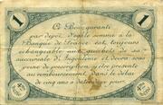 1 franc - Chambre de commerce d'Angoulème [16] <4ème série> – reverse