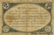 2 francs - Chambre de Commerce d'Angoulême [16] <4ème série> – reverse
