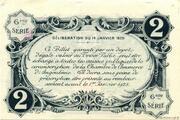 2 francs - Chambre de Commerce d'Angoulême [16] <6ème série> – reverse