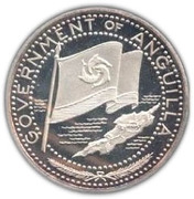 2 Dollars - Elizabeth II (National Flag) – obverse