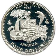 4 Dollars - Elizabeth II (Ship - Atlantic Star) – reverse
