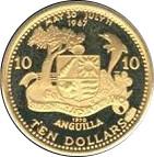 10 Dollars - Elizabeth II (Caribbean Sealife) -  reverse