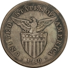 1 Dollar (Provisional Government Counterstamped Coinage) – reverse