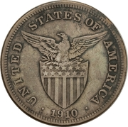 1 Dollar (Provisional Government Counterstamped Coinage) -  reverse