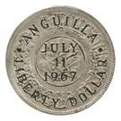 1 Dollar (Provisional Government Counterstamped Coinage) – obverse