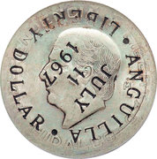 1 Dollar (Provisional Government Counterstamped Coinage) -  obverse