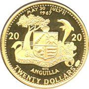 20 Dollars - Elizabeth II (Mermaids) -  reverse