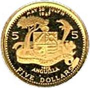 5 Dollars - Elizabeth II (Methodist Church) -  reverse