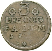 3 Pfenning - Viktor II Friedrich -  reverse