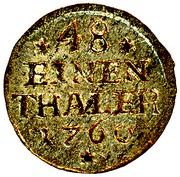 1/48 Thaler - Viktor II. Friedrich – reverse